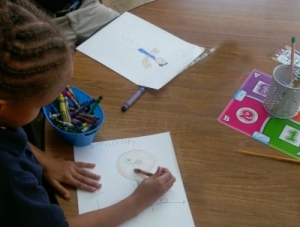 Rosenwald's Kindergarten Students Write Letters to Pen Pals