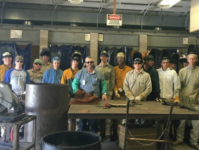 Welding is one of the Jump Start pathways offered at Livonia High School.