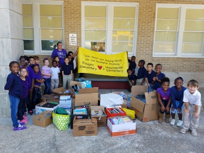 Rougon Delivers Supplies to School Impacted by Hurricane Harvey