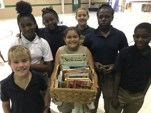 Valverda Leads Book Drive for Hurricane Harvey Relief
