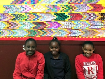 Rougon's 5th Graders Combine Math and Art