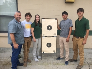 Pictured are Randy Jarreau (welding instructor), Trent Bergeron, Samantha Hawkins, Fausto Mejia, and Colby Bergeron.