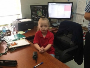 "1st Grader Becomes ""Principal for the Day"" at Valverda"