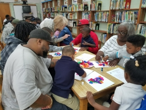 Rosenwald's Head Start and the Arts Council of Pointe Coupee Hold Fatherhood Activity