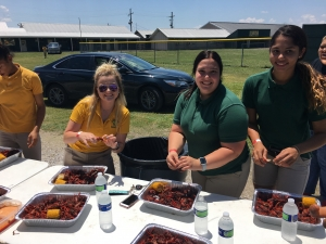 LHS Seniors Treated to Crawfish Boil for ACT/WorkKeys Scores