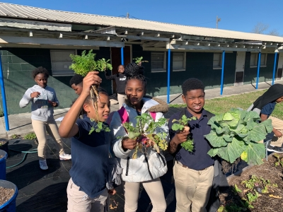 Rosenwald's 4th Graders Reap a Bountiful Harvest